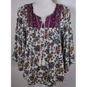 Flying Tomato women's top shirt size small floral
